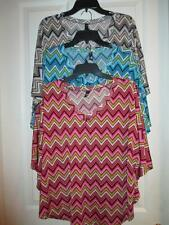 Zig Zag Design V Neck Poncho Style Top NEW By Ing Collection MSRP $44.00