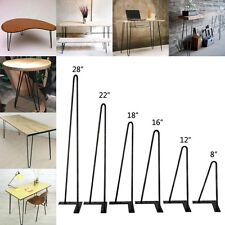 "Solid Metal Laptop Desk Table Chair Bar Hairpin Legs 8"" 12"" 16"" 18"" 22"" 28"" 30"""