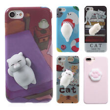 Squishy Soft Silicone Cat Seal Bear TPU Phone Case Cover for iPhone 7 6s 6 plus