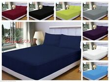 "Non Iron Extra Deep Fitted Bed Sheets 16""/40CM Single, 4FT, Double, King, Size"