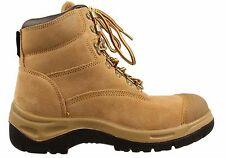 WOODLANDS MENS DARWIN WHEAT LEATHER WORK BOOTS SHOES SAFETY STEEL TOE CAP