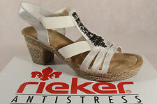 Rieker Ladies Sandals Sneakers white/ silver soft inner sole NEW