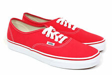 Vans Authentic Skate Shoes, Red, Red, Canvas, Trainers, New