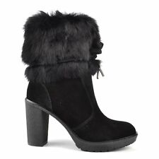 MICHAEL by Michael Kors Hawthorne Black Suede Ankle Boot