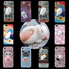 Lovely Cat Seal Squishy Cover For iPhone 6 6s 7 Plus 3D Case Kneading Phone Case