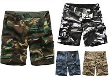 Mens Army Military Tactical Camouflage Outdoor/Work/Camp/Fish Cargo Shorts