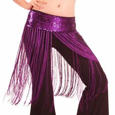 US3 Belly Dance Costume Tassel Hip Scarf Dancing Bollywood Fringe Belt Skirt