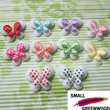 "(U Pick) 50-300 Pcs 1-3/8"" Padded Felt 2-Layer Butterfly Appliques B0810"