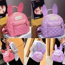 Cute Women Girl Backpack Travel PU Leather Handbag Rucksack Shoulder School Bag