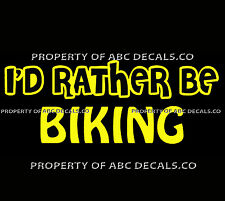 VRS ID RATHER BE BIKING Cycling Bicycling Road Velodrome Race CAR VINYL DECAL