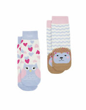Joules Baby Girls Two Pack Character Socks - Owl