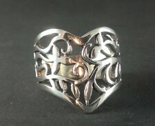 Womens Solid Sterling Silver 925 Celtic Filigree Jewelry Band Ring Sz 6 7 8 9 10