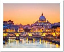 St. Peter's Cathedral At Night, Rome Art Print/Canvas Print Home Decor Wall Art
