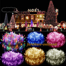 240V Electric 200-500LED Fairy String Light Party Wedding Outdoor Garden Lamp UK