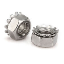 304 Stainless Steel Hex Nut Tooth Lock Nuts Washer, M3,M4,M5,M6,M8 Screw Bolt