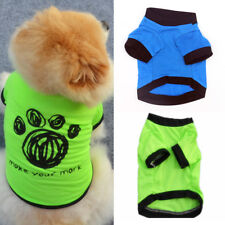Pet Dog Puppy Cat Cotton Cartoon Skull Paw Print T-Shirt Clothes Apparel Healthy