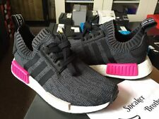 Adidas NMD_R1 PK W Women Primeknit Core Black Glitch Camo Shock Pink BB2364 Tan