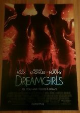 DREAMGIRLS Original MOVIE POSTER 2 Sided 27x40 BEYONCE KNOWLES