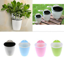 Automatic Self Watering Flower Pot Garden Wall Hanging Plastic Planter 4 Colors