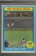 1961 Topps #306 World Series Game #1 (Virdon Saves Game) Pittsburgh Pirates Card