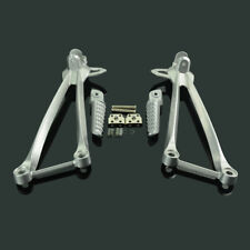 Rear Passenger Foot Pegs Pedals Footrests For Kawasaki ZX6R 09-11 12 ZX10R 08-10