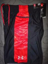 UNDER ARMOUR BASKETBALL HEATHER RED SHORTS M  MEN NWT $49.99