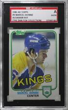 1981-82 Topps #9 Marcel Dionne AUTHENTICATED Los Angeles Kings Hockey Card