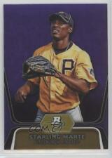 2012 Bowman Platinum Prospects Retail Purple Refractor BPP24 Starling Marte Card