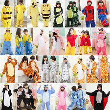 Unisex Adult/Kids Kigurumi Animal Pajamas Cosplay Costume animal Sleepwear NEW
