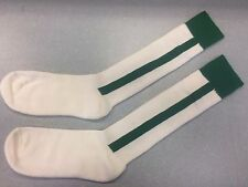 Pearsox Athletic All In One Knee High Stirrup Socks - White/Kelly Green
