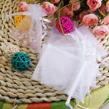 100PCS Organza Wedding Party Favor Decoration Gift Candy Sheer Bags Pouches USA