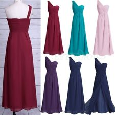Evening Women's Formal Long Chiffon Dress Gown Party Cocktail Bridesmaid Wedding