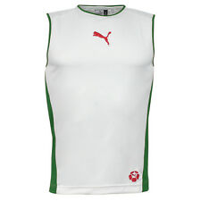 Puma Cat Velocity Running Sleeveless Vest Mens White Green 650226 16 UA51
