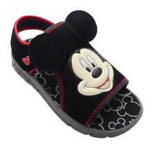 Disney Mickey Mouse Toddler Boys Black & Red Sandals Size XL 11/12 - NWT