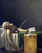 Death of Marat by Jacques David. Giclee Fine Art Print Reproduction on Canvas