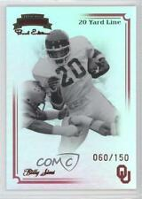 2008 Press Pass Legends Bowl Edition 20 Yard Line 52 Billy Sims Oklahoma Sooners