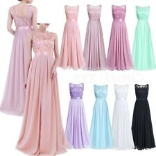 Long Chiffon Bridesmaid Evening Dresses Women Prom Party Gown Wedding Bridal NEW