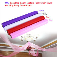 10M Stage Backdrop Gauze Curtain Table Garland Wedding Banquet Party Decor Prop