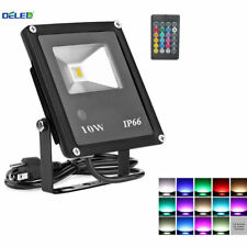 Waterproof 10W RGB LED Flood Light Spotlight For Outdoor Garden Lamp with Remote