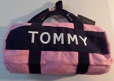 Tommy Hilfiger Embroidered Pink Mini Duffle Bag.