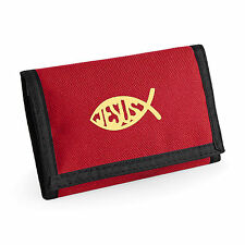 Wallet Ichthys Fish Christian symbol Fish Christian Gift Ichthus Choice Colours