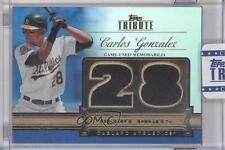 2012 Topps Tribute Debut Digits Relic Blue Encased #DD-CG Carlos Gonzalez Card