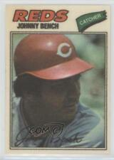 1977 Topps Baseball Patches Cloth Stickers #3 Johnny Bench Cincinnati Reds Card