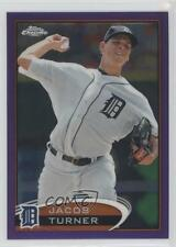 2012 Topps Chrome Retail Purple Refractor #39 Jacob Turner Detroit Tigers Card
