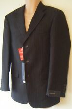 Mens Tailored Suit Jacket Sizes 36R 36L 38L New Brown Pinstripe Single Breasted