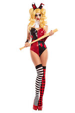 Mean Little Harlequin Cosplay Bunny Harley Quinn ADULT Womens Costume NEW