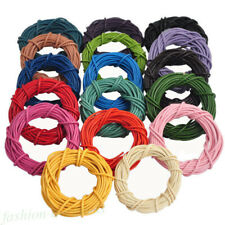 Lots 1PC/5M Real Leather Round Rope String Cord Necklace Jewelry Crafts DIY Tool