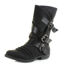 Womens Blowfish Alms Black Texas PU Pisa Mid Calf Boots UK Size
