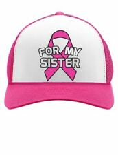 Breast Cancer Awareness - I Wear Pink Ribbon For My Sister Trucker Hat Mesh Cap