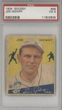 1934 Goudey Big League Chewing Gum R320 #59 Joe Mowry PSA 3 Boston Braves Card